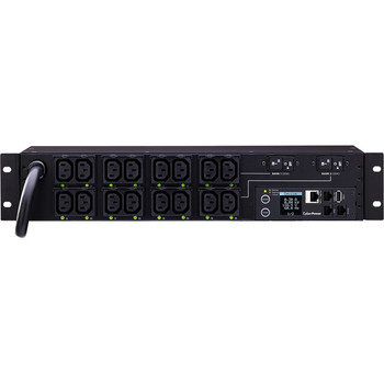 CyberPower PDU81007 Switched Metered-by-Outlet PDU, 200-240V, 30A, 16 Outlets (C13), 2U Rackmount