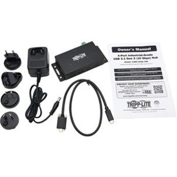 Tripp Lite USB Hub 4-Port Industrial 2 USB C & 2 USB-A USB 3.1 Gen 2 10Gbps