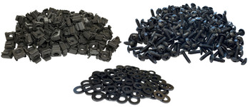 12-24 screw cage nut & washer combo 100 Pack