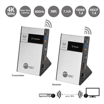 SIIG 4K HDMI Wireless Extender Kit - 98ft