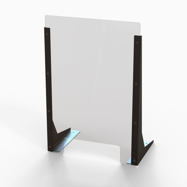 """Acrylic Cough & Sneeze Barrier - 16"""" Wide/24"""" Height"""