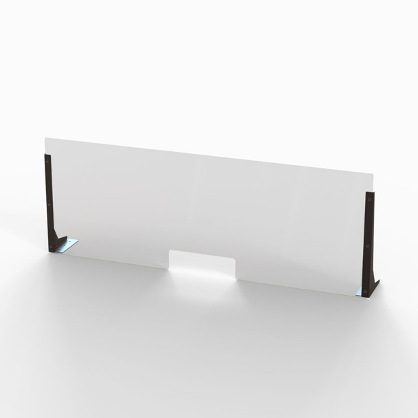 """Acrylic Cough & Sneeze Barrier - 48"""" Wide/18"""" Height"""