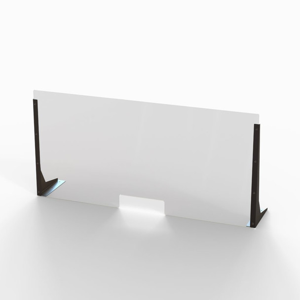 """Acrylic Cough & Sneeze Barrier - 48"""" Wide/24"""" Height"""