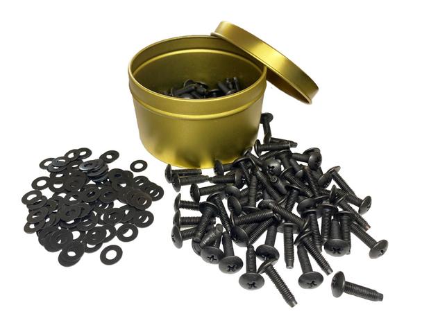 RackGold® 10-32 Rack Screws w/ Delrin washers
