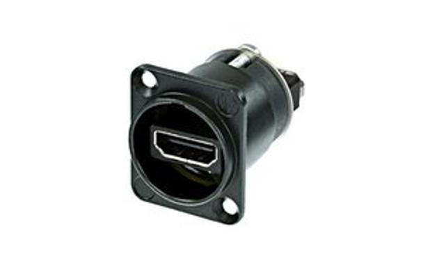 Neutrik NAHDMI-W-B HDMI 1.3 feedthrough Adapter Black D-Shape housing