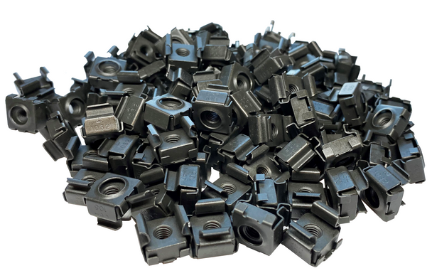 10-32 Black Snap-On Cage Nuts - 100 Pack G1032-SNP-B10 USA Made