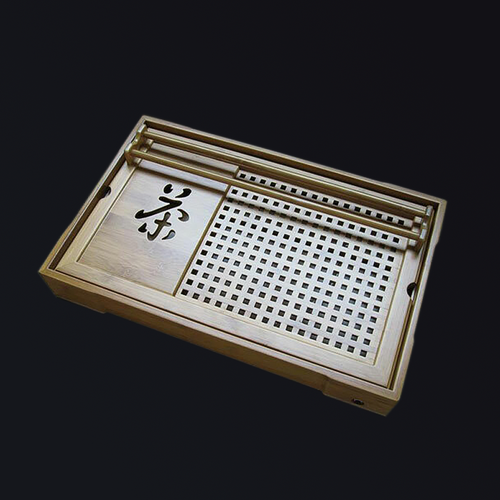 Taiwan artisan hand-crafted bamboo wooden tea tray / tea box for preparing High Mountain Oolong Tea