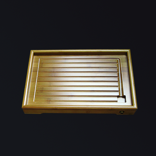 Beautifully designed high quality slotted bamboo tea tray.  Hand-crafted in Taiwan.