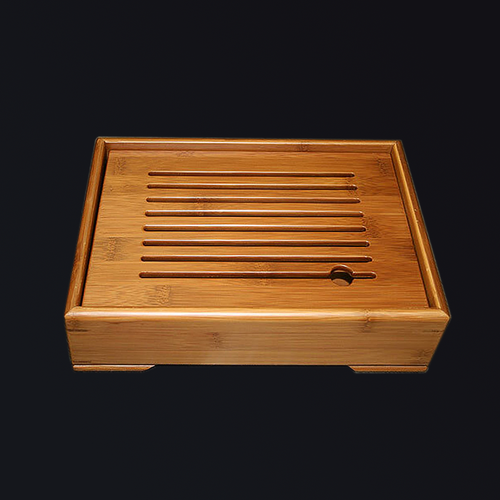 Small/medium Taiwan hand-made bamboo box-style tray, ideal for preparing high mountain oolong tea.