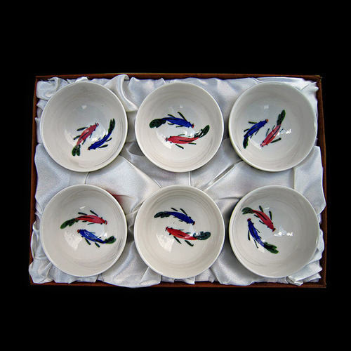 Porcelain Tea Cup Set (Set of 6)