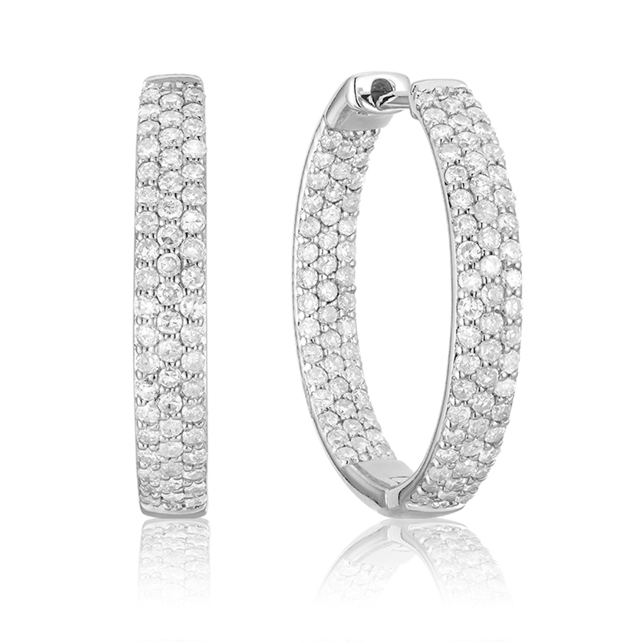 25b17ceafbeb4 DIAMOND LOOPS EARRING #13-040090