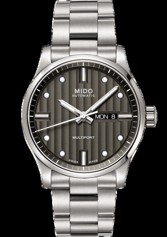 Mens Multifort, Grey dial, Stainless Steel bracelet