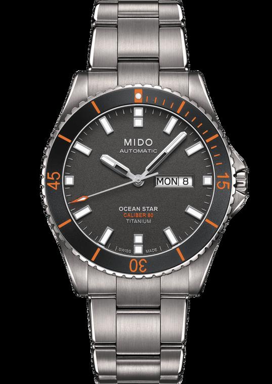 Mens Ocean Star, Grey dial, Titanium bracelet