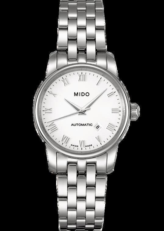 Ladies Baroncelli, White dial, Stainless Steel bracelet
