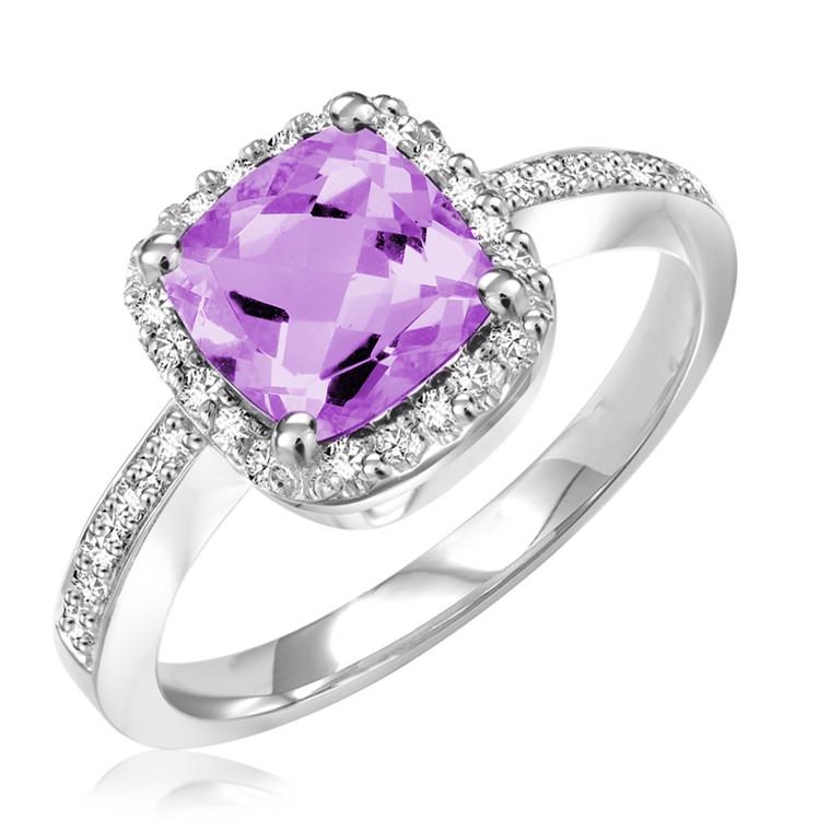 AMETHYST & DIAMOND RING  #02-04031AM