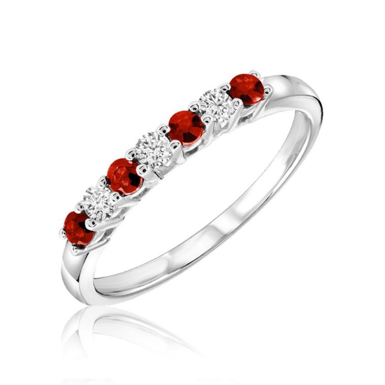 RUBY & DIAMOND RING  #02-040330RU