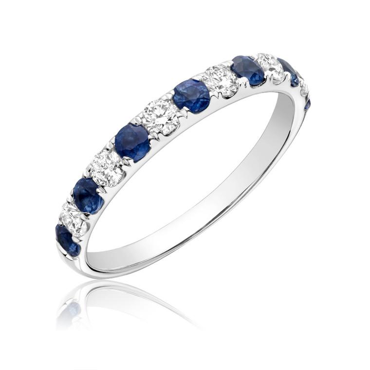 BLUE SAPPHIRE & DIAMOND RING #02-040500BS