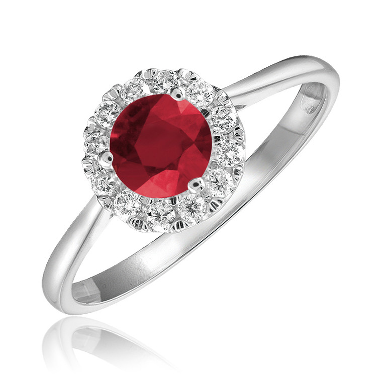 RUBY & DIAMOND RING  #02-04MC1RU