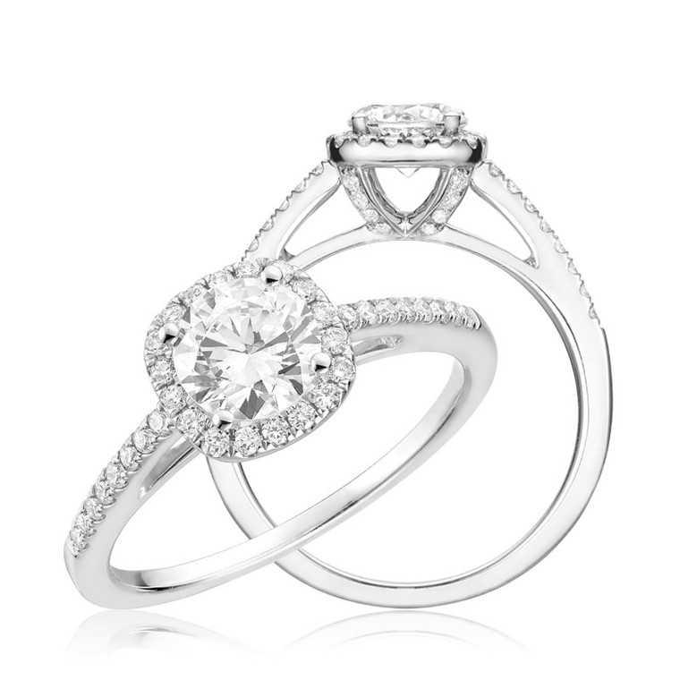 DIAMOND ENGAGEMENT RING  #02-04CU100