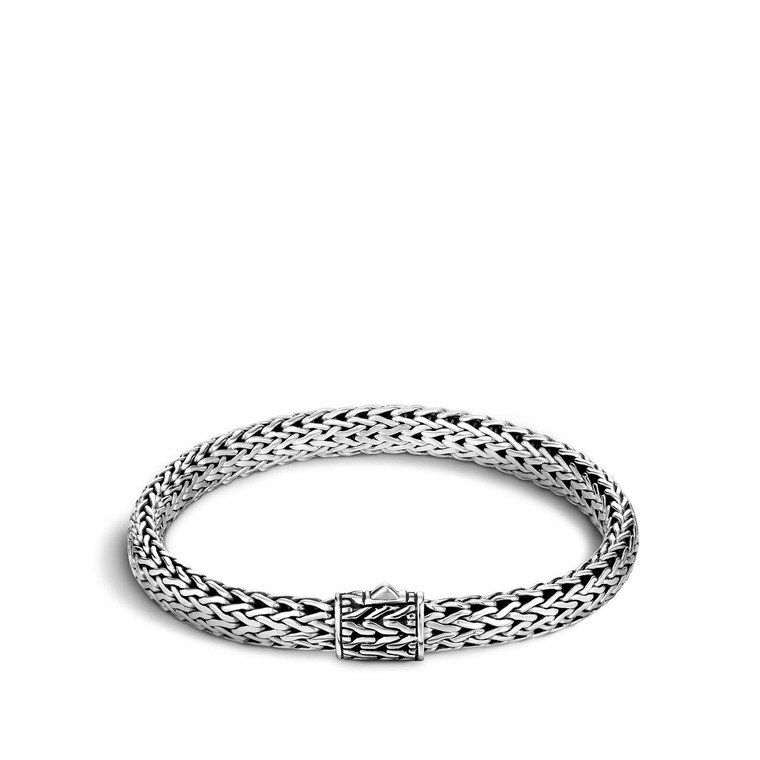 WOMEN's Classic Chain Silver Small Bracelet, Size M