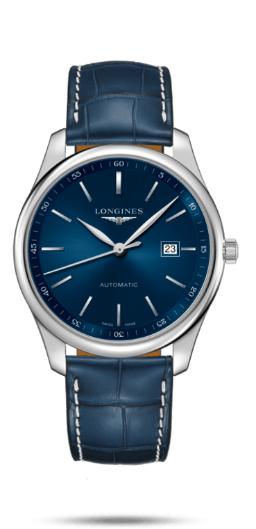 MASTER COLLECTION, AUTOMATIC, 42MM STAINLESS STEEL CASE, BLUE ALLIGATOR STRAP, BLUE DIAL