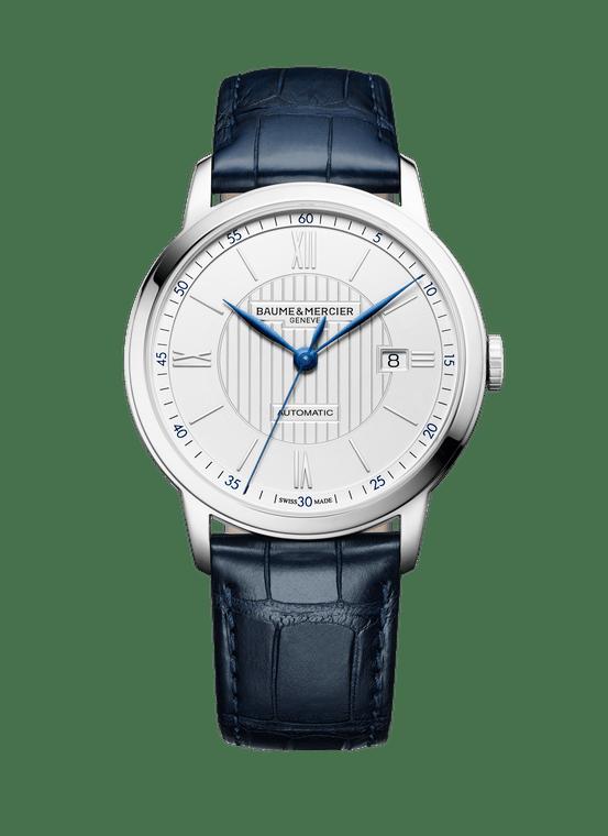 Baume Mercier Gents CLASSIMA, Automatic - White Dial, Blue Hands