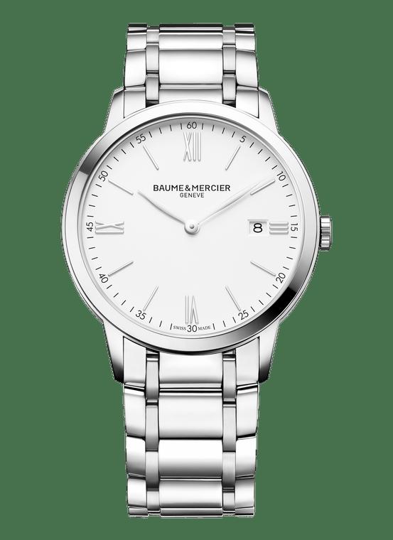 Baume Mercier Gents CLASSIMA, Quartz - White Dial, Steel Bracelet