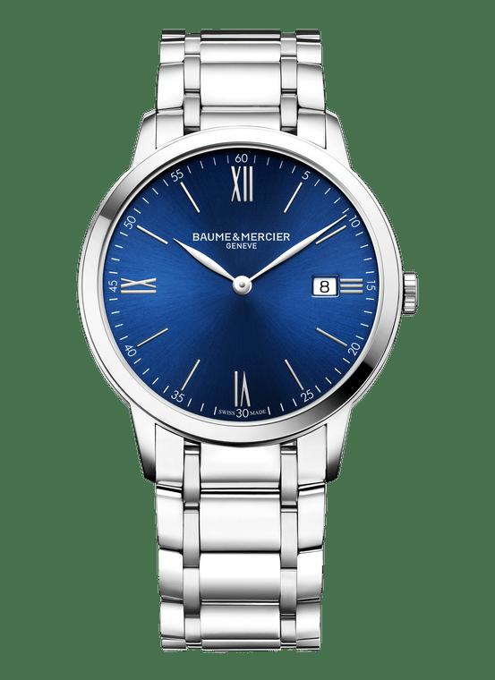 Baume Mercier Gents CLASSIMA, Quartz - Blue Dial, Steel Bracelet