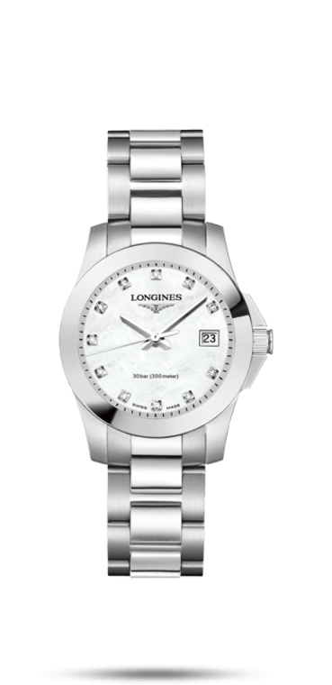 CONQUEST  LADIES STAINLESS STEEL BRACELET AND MOP DIAL