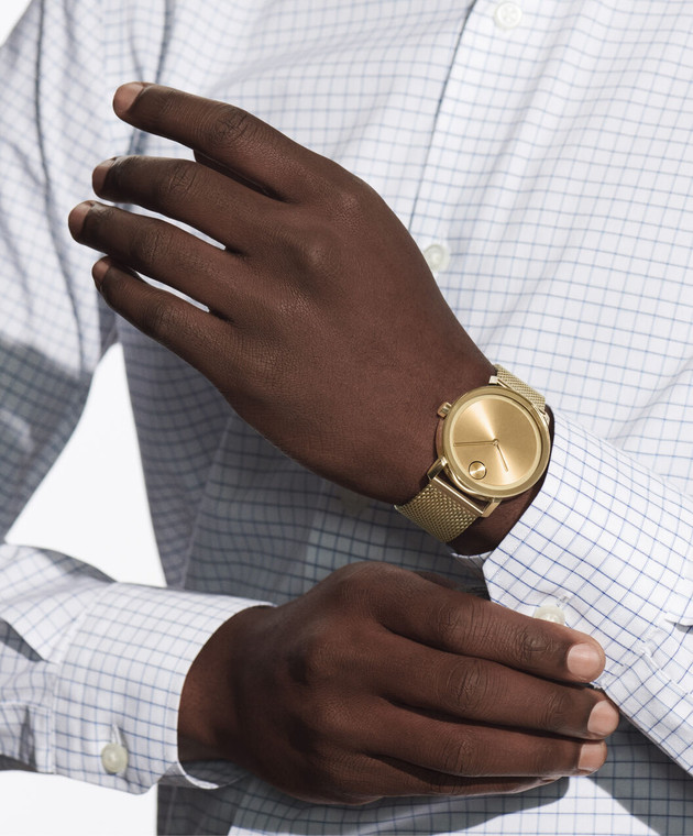 Large Movado BOLD Evolution watch, Gold