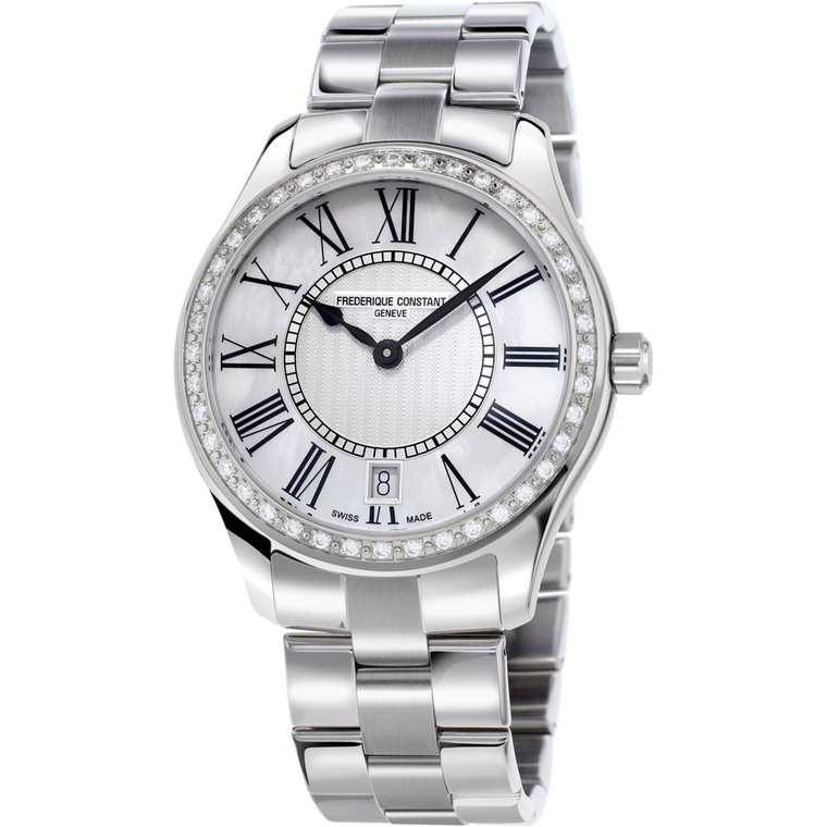 FREDERIQUE CONSTANT - CLASSIC LADIES QUARTZ, STEEL BRACELET
