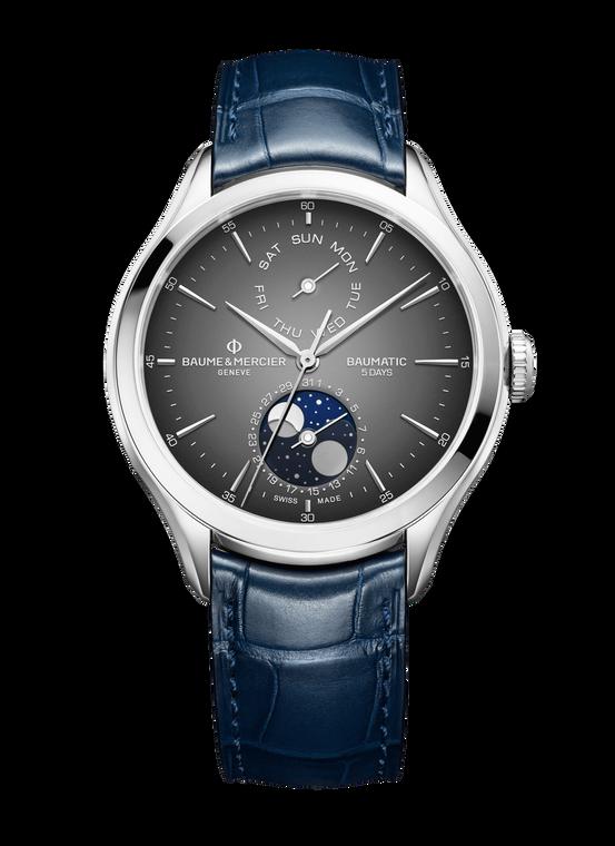 Baume Mercier Clifton Baumatic MoonPhase - Grey Dial