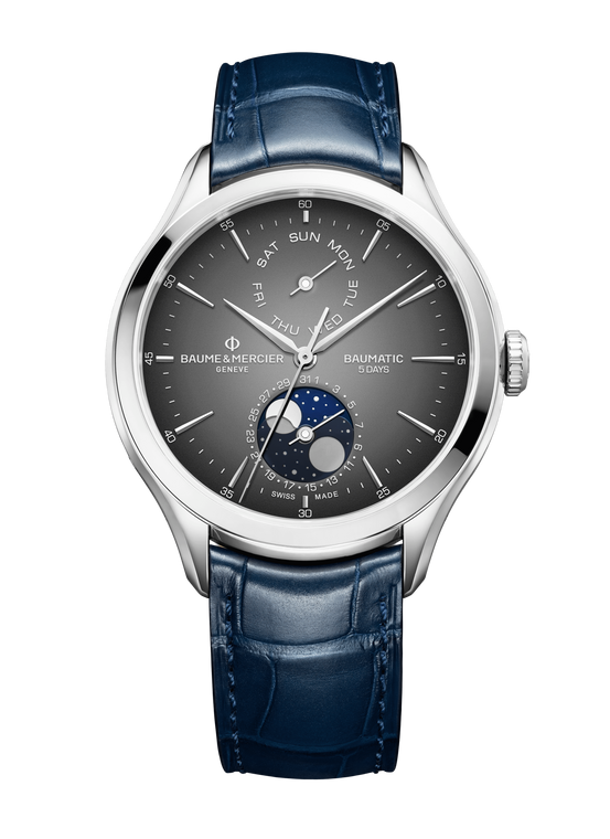 Baume & Mercier - Clifton Baumatic AUTOMATIC DAY DATE MOON PHASE WATCH