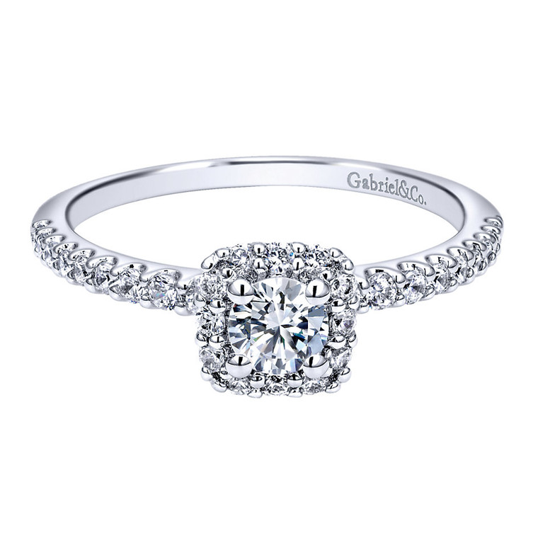 14K  White Gold and Diamond Engagement Ring.  #ER911727R1W44JJ.CSD4