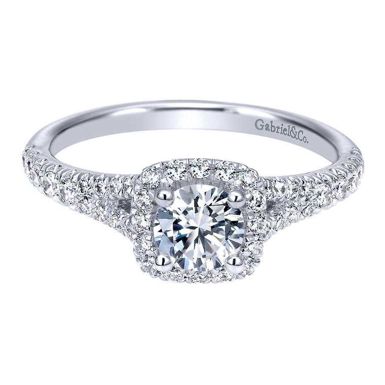 14K White Gold and Diamond Engagement Ring #ER911897R0W44JJ.CSD4
