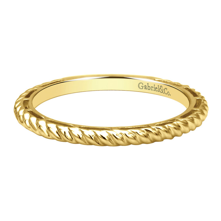 14k yellow gold ring/band with rope pattern #LR4582Y4JJJ