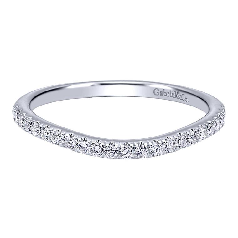 14K White Gold and Diamond Band #WB911897R0W44JJ