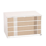 """PBWS01A Wall  Sleeve - Solid side 26""""  Metal, Beige, heavily insulated, includes weather board & stamped aluminum  with standard Exterior Grille"""