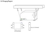 Quest Dual 155 Overhead Dehumidifier Hang Kit Digram
