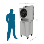 Cool-Space Glacier-18-TB CS5-18-VD-TB2 Portable Evaporative Cooler - Dimensions View