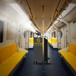 SaniCart Portable Sanitation Station for Commuter Train