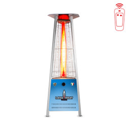 Lava Heat Italia Triangular 6 ft. Commercial Flame LED Patio Heater with Remote (LHI-101)