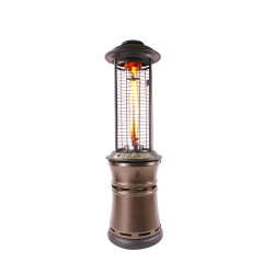 Lava Heat Italia Cylindrical Collopsable 6 ft. Commercial Flame Patio Heater (LHI-112)