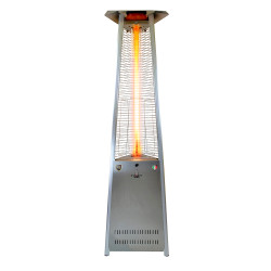 Lava Heat Italia Triangular 8 ft. Commercial Flame Patio Heater Assembled without Remote (LHI-133)