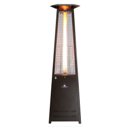 Lava Heat Italia Triangular 8 ft. Commercial Flame Patio Heater Assembled without Remote (LHI-135)