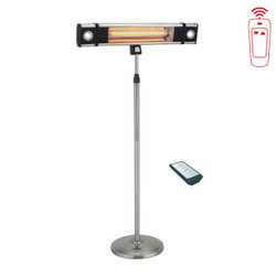 Lava Heat Italia Wall Mount with Remote Controller and Stand Commercial Electric Patio Heater (LHI-160)