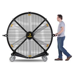 Big Ass Fans 6.5 ft Black Jack Portable Fan - Front View