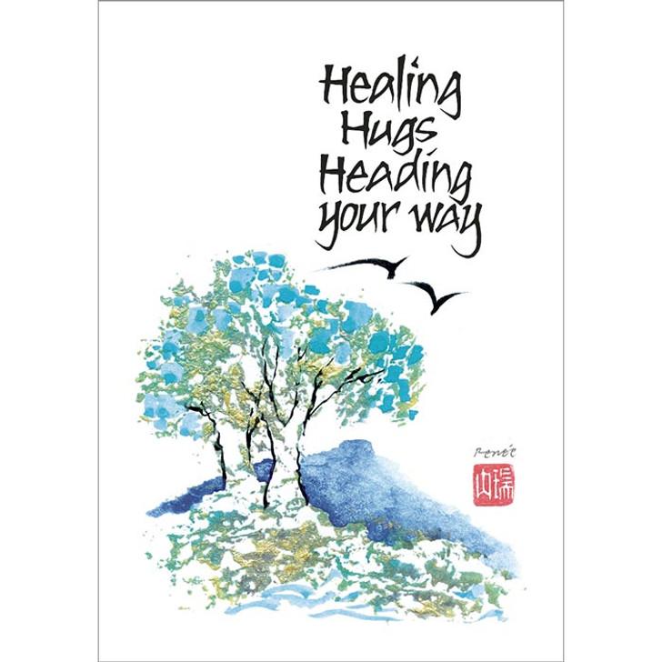 Healing Hugs Heading Your Way Greeting Card