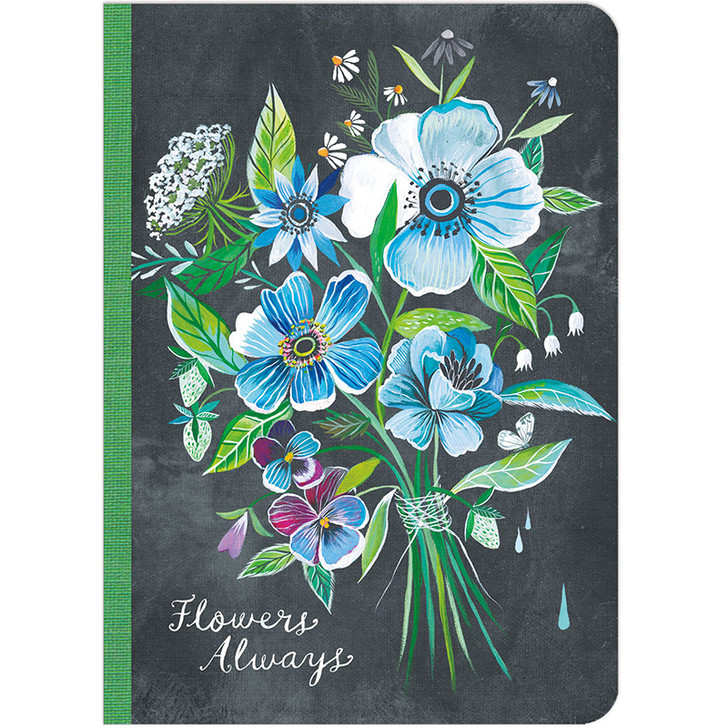 Flowers Always Lined Travel-Size Journal