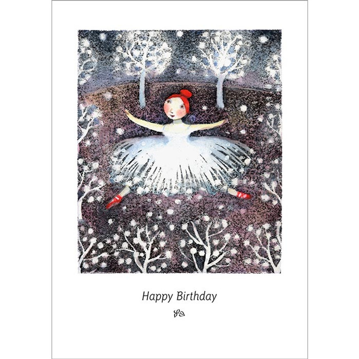 Snow Dancing Greeting Card